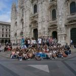 Ученици гимназије испред Миланске катедрале